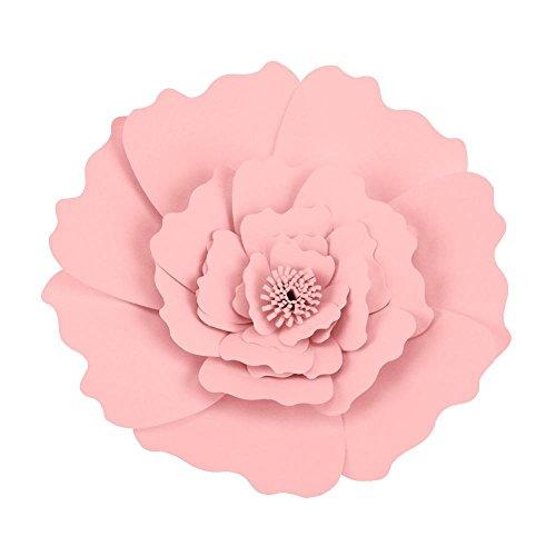 Papierblumen Papier Pompons Perfekt Handwerk für Hochzeit Geburtstag Baby Shower Feier Party Wand Dekoration (Hellrosa)