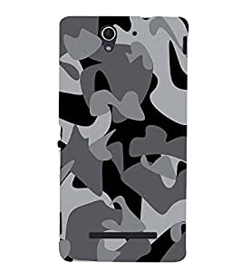 Fuson Designer Back Case Cover for Sony Xperia C3 Dual :: Sony Xperia C3 Dual D2502 (Military Print Design Respect Army Soldier)