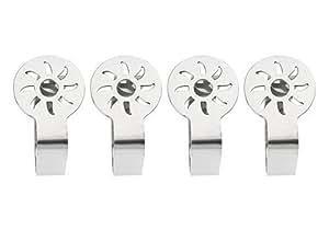 "Tischdeckenklammern ""Sonne"" Tischtuch-Clips Metall 4er-Set"