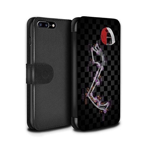 Stuff4 Coque/Etui/Housse Cuir PU Case/Cover pour Apple iPhone 8 Plus / Singapour Design / 2014 F1 Piste Collection Monaco/Monte Carlo