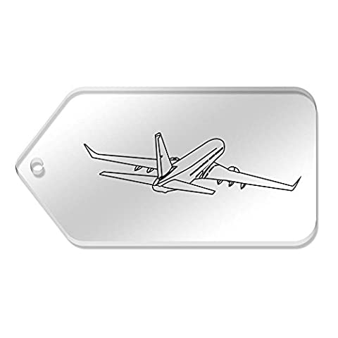 10 x Large 'Jumbo Jet' Clear Gift / Luggage Tags (TG00023964)