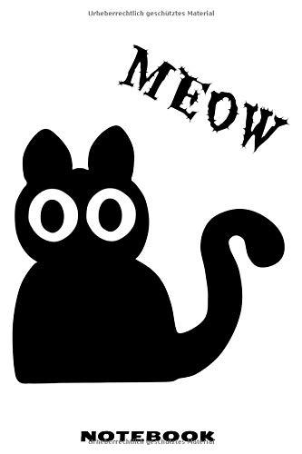 raster Notizbuch mit schräger Katze Design für Männer und Frauen ()