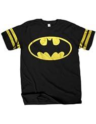Batman Logo Hombres Black Athletic Camiseta | S