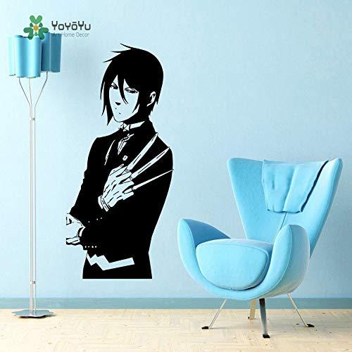 Wandtattoo Anime Manga Boy Guy Mit Waffe Japaness Stil Dekoration Mode Vinyl Art Removeable Wall Decor 57X115 cm (Wandtattoo Anime-zitat)