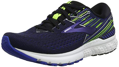 Brooks Adrenaline GTS 19, Scarpe da Running Uomo, Nero (Black/Blue/Nightlife 069), 44 EU