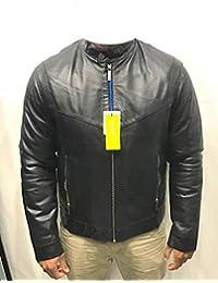 Versace Jeans - Veste-Blouson Cuir Homme Model ECGQA9P1 Sheep Low Napa Noir 260a89bc182