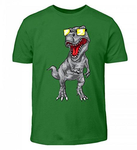 Hochwertiges Kinder T-Shirt - Cooler Tyrannosaurus Rex - Dinosaurier Dino T-Rex Urzeit Archäologie Sonnenbrille Coolness