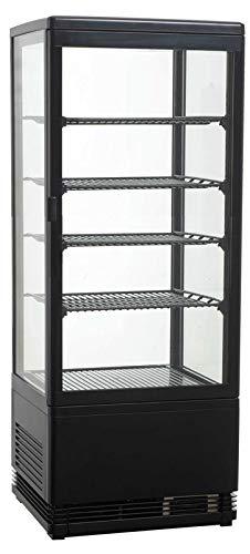 Aufsatzgetränkekühler, 428x386x1110 mm, 98 Liter, schwarz