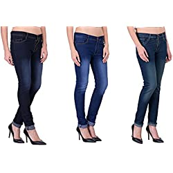 London Looks Lady Slim Fit Multi Color Jeans (Combo of 3) (32)