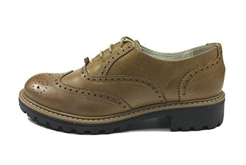 senza marca , Chaussures de ville à lacets pour femme Marron