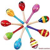 Uokoki Holz Rasseln Egg Shaker Kids Musical-Party-Bevorzugungs-Kind-Baby-Sand Shaker Newborn-Sand-Hammer Spielzeug zufällige Farbe