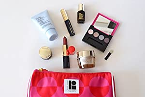 Estee Lauder 8 Piece Skin Care & Makeup Set Including Exclusive Lisa Perry Makeup Bag - Brand New