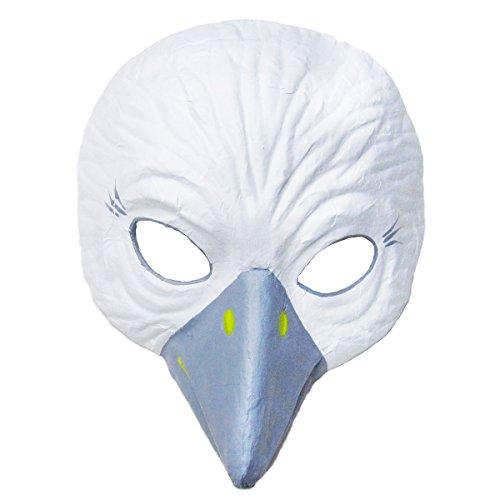 Prezer Weiße Taube Theatermaske für Kinder und (Taube Kostüm)
