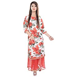 FASHION 2 ME Women's Kurti With Skirt-L
