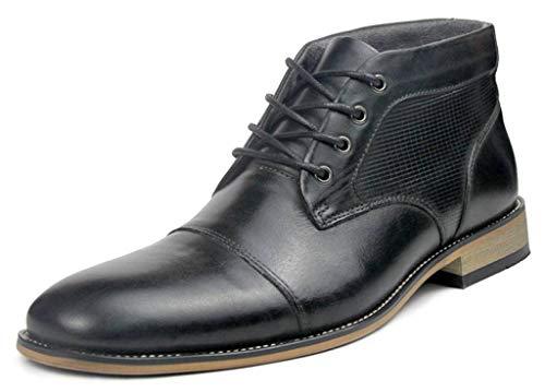 SimpleC Herren Dickinson Cap-Toe Wingtips Schnürenkle Stiefeletten Sch42.5 (Cowboy-wingtip Schuhe)