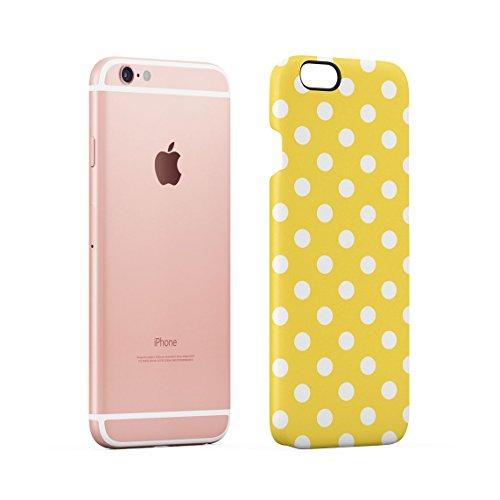 Black Polka Dots Pattern Dünne Rückschale aus Hartplastik für iPhone 6 Plus & iPhone 6s Plus Handy Hülle Schutzhülle Slim Fit Case cover Yellow Dots