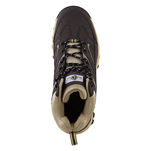 HSM, Chaussures montantes pour Homme marron foncé