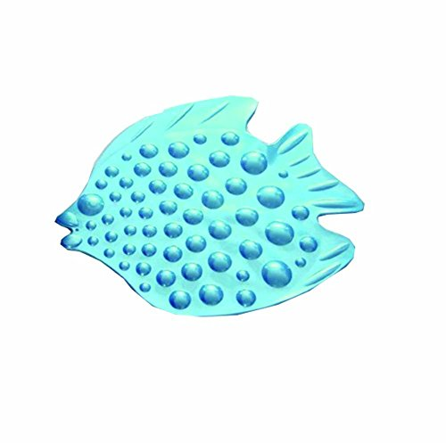 Anti-dérapant Tapis de bain Douche Of The Light Blue Bubble Poisson