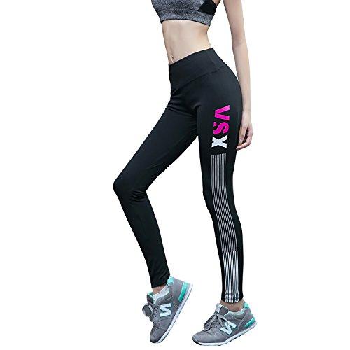 Dolamen Damen Yoga Pants Hose, Sport Leggings Jogger Stretch Workout Fitness Hose Sweatpants, mit fein weichem elastischem Bund, für Training/Yoga/Laufen/Gym Rosa