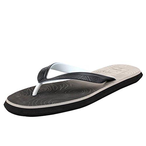 Baymate Uomo Graduale Colore Infradito Moda Antiscivolo Pantofole Sandali Grigio