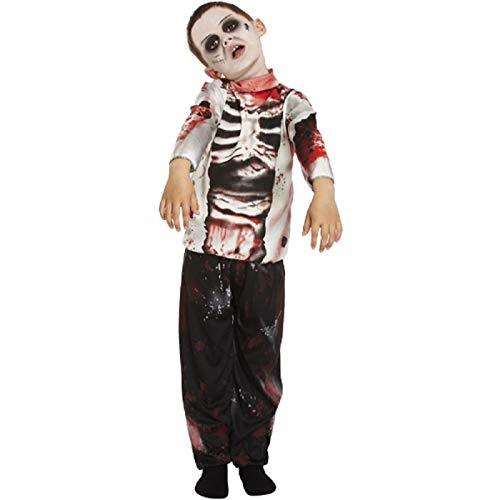 Jungen Childrens Zombie Kostüm The Walking Dead Horror Outfit für - Walking Dead Kid Kostüm