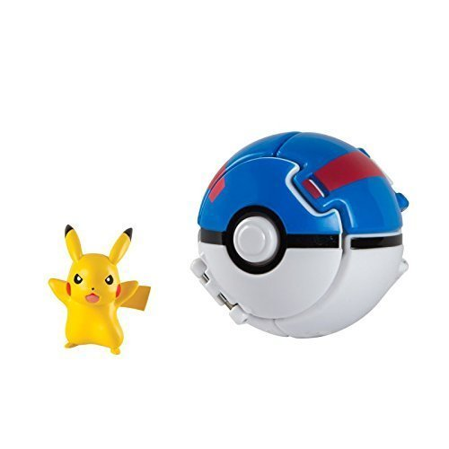 Throw 'N' Pop Pokeball/Pokemon/pokemonfigur Pikachu con Superball / great ball