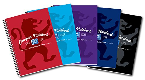 Oxford Campus Wirebound Notebook, A4 Size - Assorted Colour, Pack of 5 Test