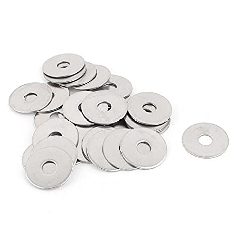 sourcingmap® Screw Repair Part 6mm 304 Stainless Steel Flat Washers Spacers 30pcs