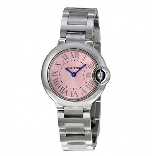 Cartier Ballon Bleu De Cartier Damen-Armbanduhr 28mm Armband Edelstahl Gehäuse + Batterie Analog W6920038