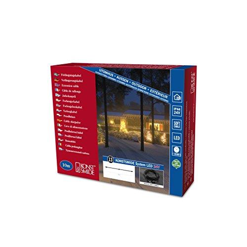 Preisvergleich Produktbild Konstsmide 4601-007 LED Hightech System / 10m Verlängerungskabel / für Außen (IP44) / schwarzes Softkabel