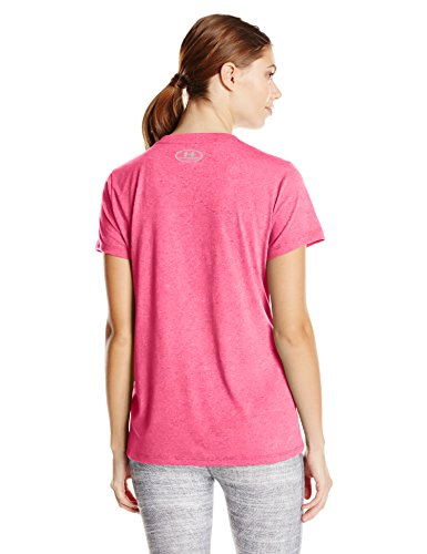 Under Armour Damen Threadborne T-Shirt PINK SHOCK | -