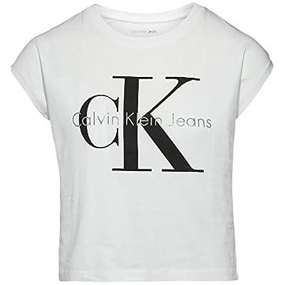 Calvin Klein Jeans Women's Cropped Logo T-shirt, White