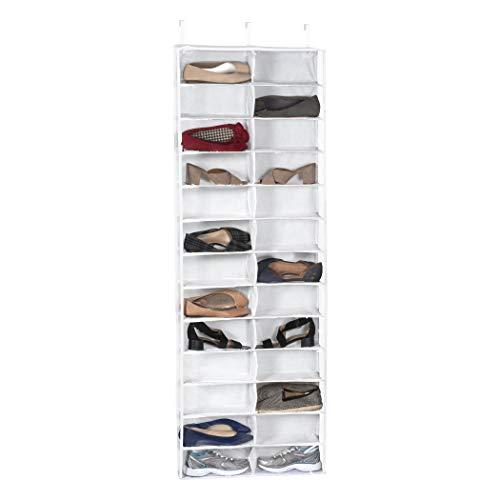 Vinyl Schuh Organizer (Richards Homewares 25526Vinyl Tür Schuh Organizer, weiß, 26Fächer)