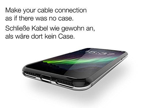 iPhone X Hülle - matt schwarz - vau Soft Grip Silikon-Tasche, Schutz-Case für Apple iPhoneX invisible clear