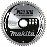 Makita B-09628 216 mm x 30 mm x 64T spezielle Aluminium-Blade Gehrungssäge