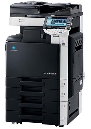 Konica Minolta Bizhub C 220 A3 Farbkopierer Netzwerk-Drucker Scanner Fax -