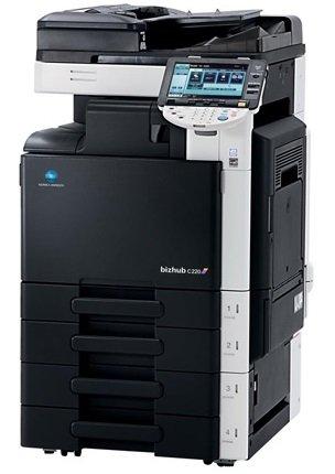 Konica Minolta Bizhub C 220 A3 Farbkopierer Netzwerk-Drucker Scanner Fax (Scanner-farbkopierer)