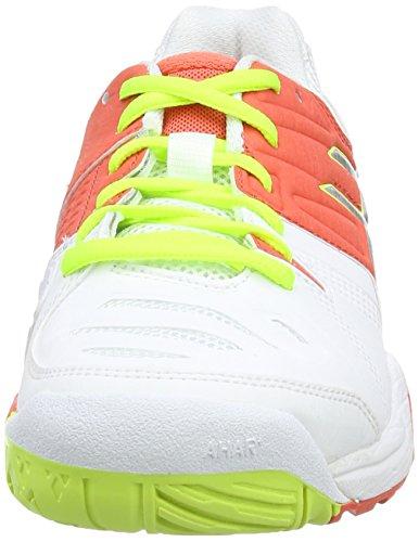 ASICS Gel-Challenger 10, Tennis Femmes Blanc (White/Hot Coral/Silver 106)