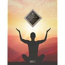 """TULPE Kariertes Notizbuch A4 """"C050 Meditation"""" (140+ Seiten, Vintage Softcover, Doppelrand, Seitenzahlen, Register - Dickes Notizheft, Matheheft, ... Schulheft, Tagebuch, Kariertes Heft Nr 26)"""