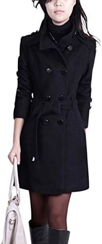 87c3fc78bb ... Elegante Doppio Petto Pocket Vento Vento Vento Cappotto Dimensione L  Nero B017IX5HNG Parent | Italia | Primo nella sua classe | Una Grande  Varietà Di ...