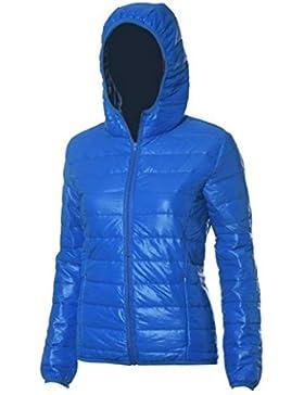 Internert Abrigo de algodón de sección delgada con capucha de manga larga de mujer de moda Chaqueta informal de...