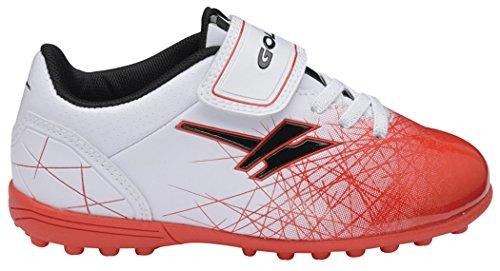 Gola  Football Boots, Chaussures de football pour garçon Blanc/rouge
