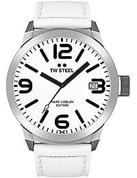TW Steel Marc Coblen Edition mit Lederband 45 MM White/White TWMC20