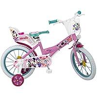 Toimsa Bambini Minnie Bicicletta, Rosa, 16Pollici