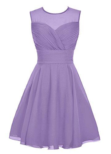 Dresstells, robe courte de demoiselle d'honneur sans manches Rose