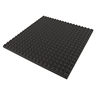 Akustikpur Pyramids - 1 m² (= 4 Pieces Each Approx.50 cm x 50 cm x 3 cm - Acoustic Insulating Foam