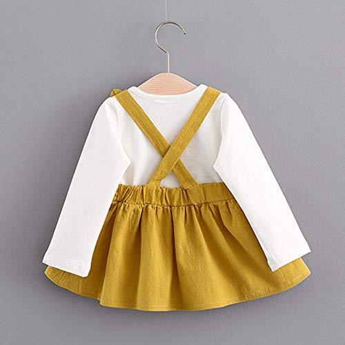 Abstand Heligen Mädchenkleider kinderkleidung Babyoverall 0-3 Jahre Alt Herbst Baby Mädchen Niedlich Hase Bandage Anzug Kinder Kleinkind Mini Kleid