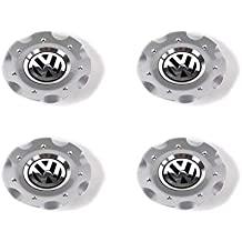 Genuine rueda Center Hub Caps 4pcs Cromado Brillante para VW Golf Jetta Mk5 2005 – 2010