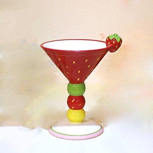 Cup Ice Cream Kaffeetasse Champagne Cup Süße Salat Cup Handbemalte Keramik Becher Cup Obst...