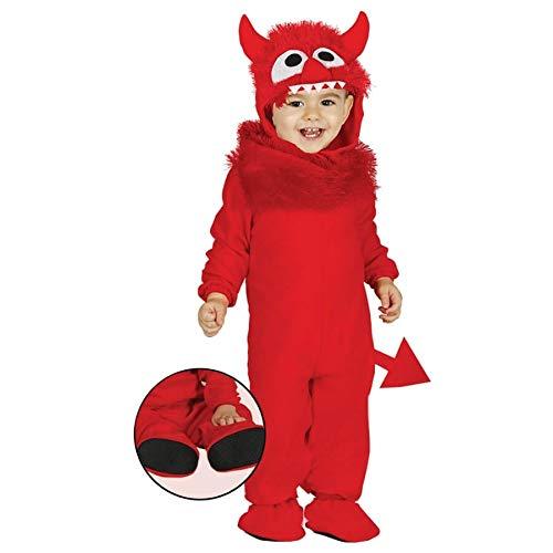 Giurca sl.. - costume diavoletto neonato 6/12 mesi, colore rossi, da 6 a 12, 85829